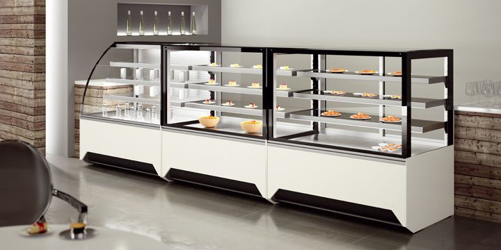 Counter refrigerated display case / for shops / supermarket / for pastry shops VISTA JORDAO COOLING SYSTEMS