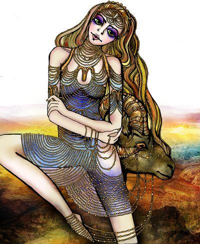 Astrology Illustration series-Aries Art Print