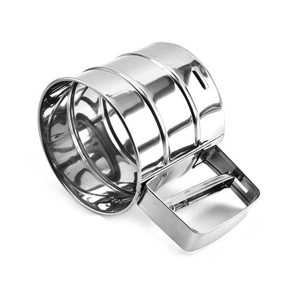 Sifter Manual Powder Sieve Baking Tools Stainless Steel Flour Sifter One-Hand Flour