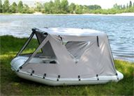 inflatable fishing boat with tent
