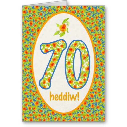 101 best welsh birthday cards images on pinterest anniversary a pretty 70th birthday card with the greeting in welsh and a pattern of bright m4hsunfo Images