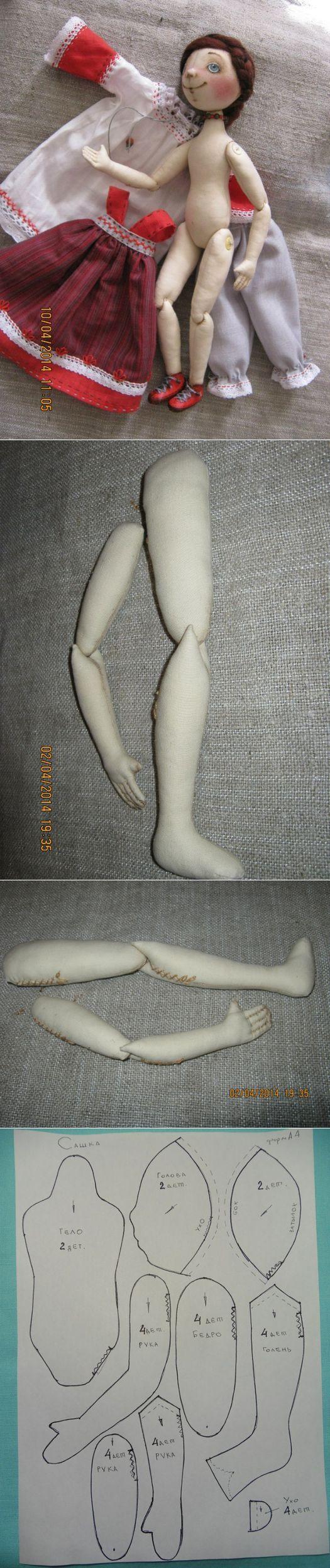Шарнирная текстильная кукла от Людмилы Кошутиной... ♥ Deniz ♥