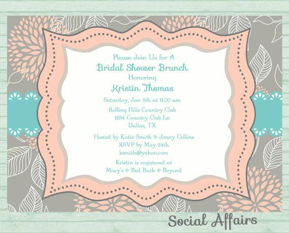 Best Social Affairs Images On   Birthday Invitations