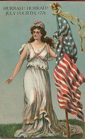 July 4  http://vintageholidaycrafts.com/wp-content/uploads/2008/05/lady-liberty-american-flag-patriotic1.jpg