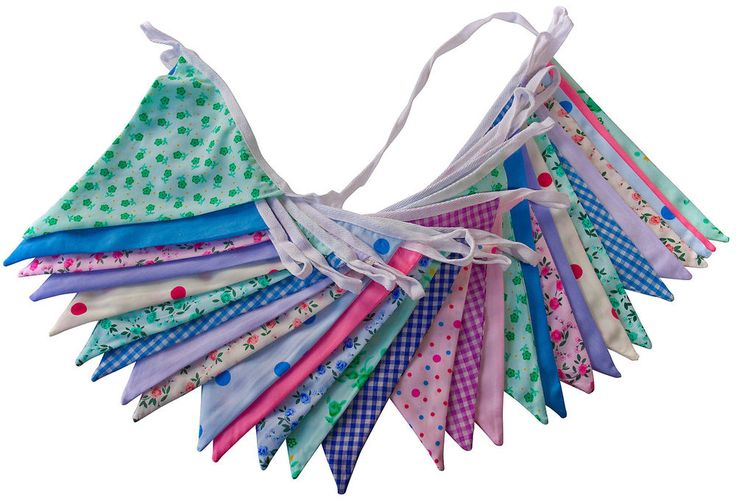 Floral mix bunting 10m. £10.50
