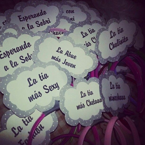 Vinchas con frases para baby shower
