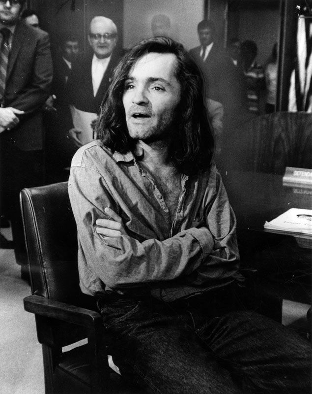 Rare murder trial photos of Charles Manson and the Manson family from 1969 to 1971.