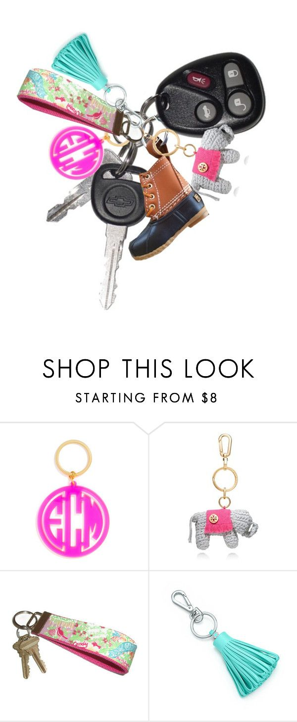 """""""Key fob! Read d!"""" by simplesouthernlife01 ❤ liked on Polyvore featuring BaubleBar, Tory Burch, Lilly Pulitzer, Tiffany & Co. and PSkeyfobcontest"""