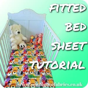 How to make a fitted bed sheet - free sewing tutorial