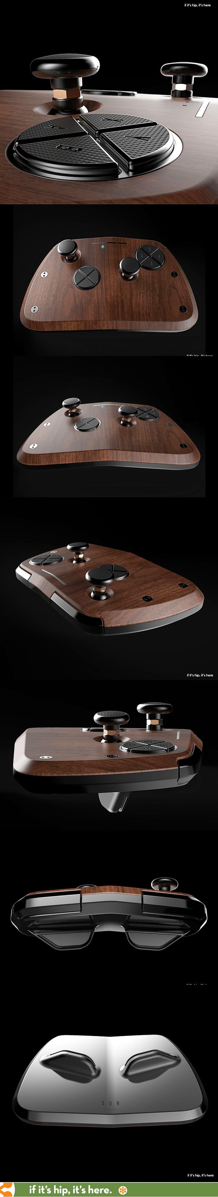 Damn. That's one sexy game controller. Learn more about the new SON S1 at http://www.ifitshipitshere.com/luxury-game-controller/