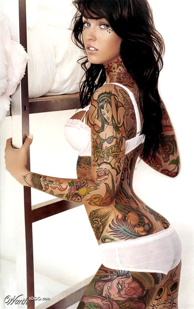 Her ink is a little much for my tastes, but damn she's pretty.
