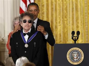 """""""There is not a bigger giant in the history of American music.""""Dylan O'Brien, Presidents Obama, Bob Dylan, Bobs Dylan, World Peace, Bobdylan, White House, United States, Barack Obama"""