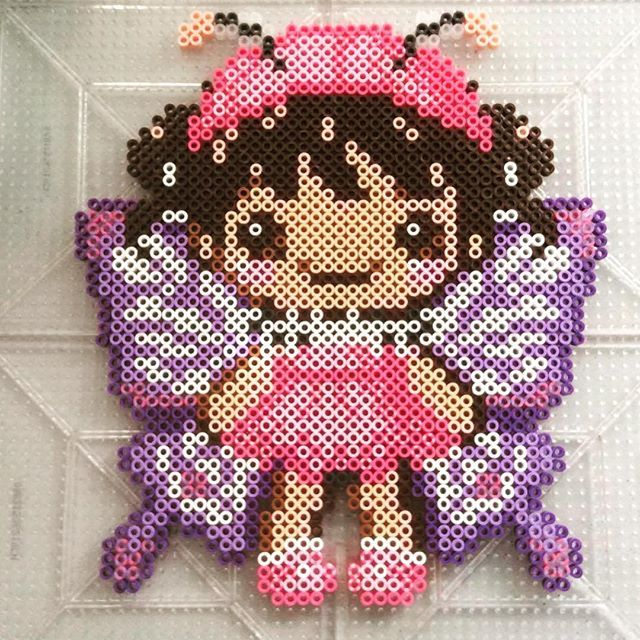 Fairy perler beads by ameliaswreathsofjoy - Pattern: https://de.pinterest.com/pin/374291419007768977/