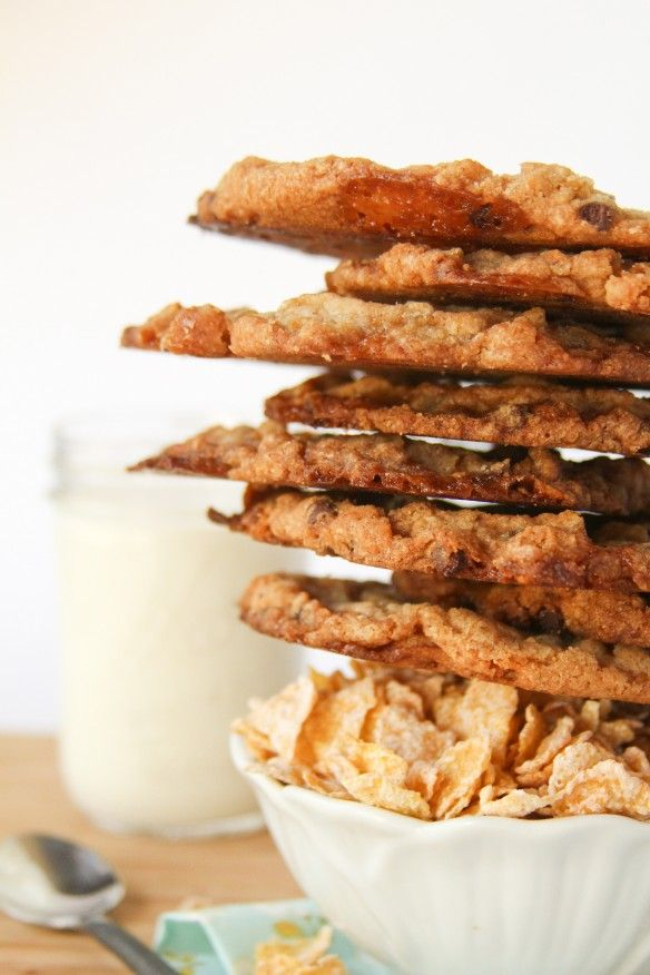 Frosted Flake Marshmallow Chocolate Chip Cookies