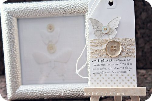 Keisha Campbell butterfly & button tag