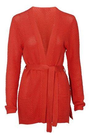 De lækreste Cellbes Cardigan Koralrød Cellbes Cardiganer & trøjer til Damer i lækker kvalitet