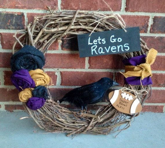 Superbowl Baltimore Ravens Wreath