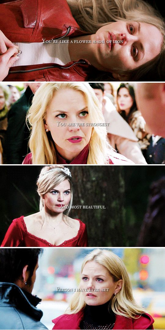 You're like a flower made of iron. You are the strongest and most beautiful person I have ever met. #ouat