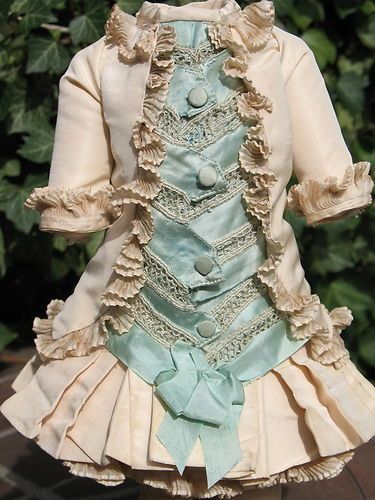 French Silk Doll Dress for Antique Dolls BullDoll Clothes for dolls