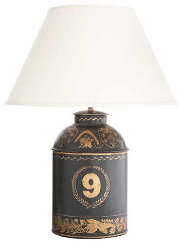 Black Tole Number Nine Tea Caddy Lamp traditional table ...