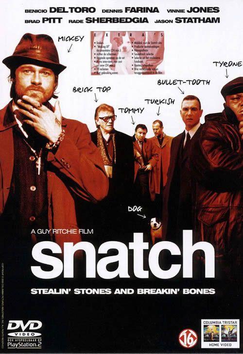 Snatch - Benicio Deltoro, Dennis Farina, Vinnie Jones, Brad Pitt, Rade Sherbedgia and Jason Statham
