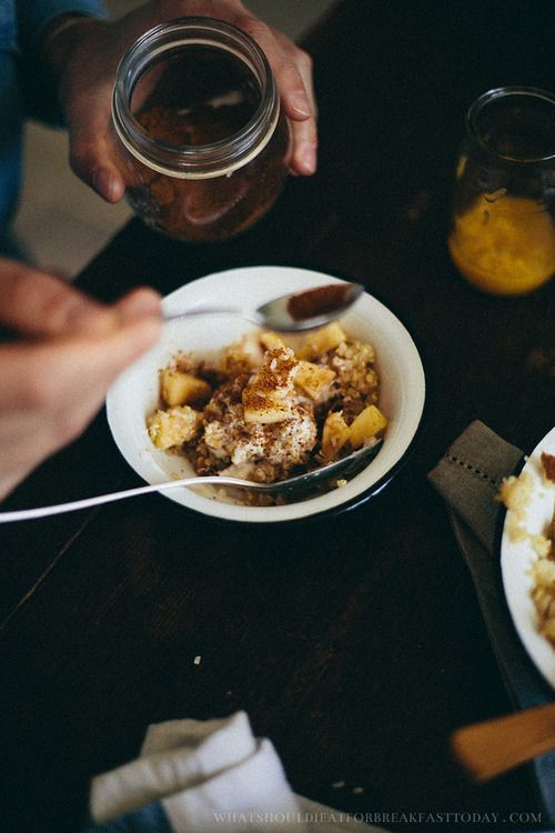 Quinoa with Baked Apples and Almonds | What Should I Eat For Breakfast Today?