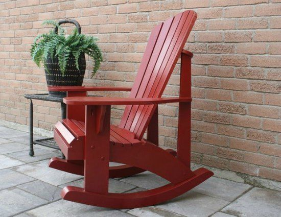 DIY Adirondack Rocking Chair