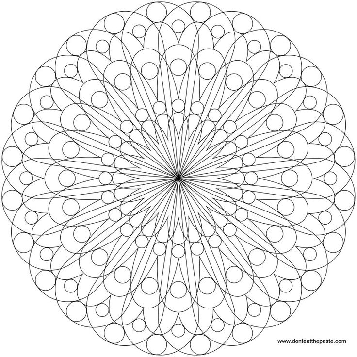 simple mandala to color, also available in a larger transparent PNG format.