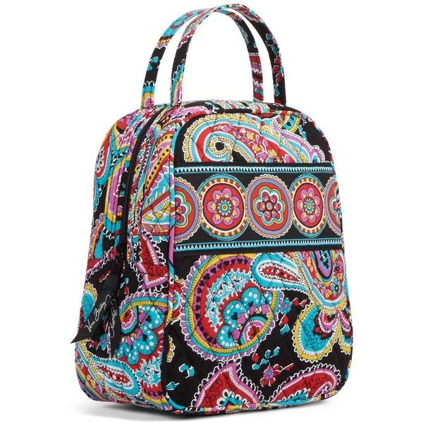 Vera Bradley Lunch Bunch Bag in Parisian Paisley ($20) ❤ liked on Polyvore featuring home, kitchen & dining, food storage containers, bags, parisian paisley, brown lunch bags, vera bradley, lunch bag, lunch sack and vera bradley bags
