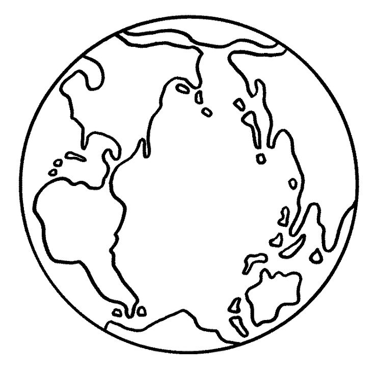 Picture Of The Earth Coloring Pages For Kids Printable Day