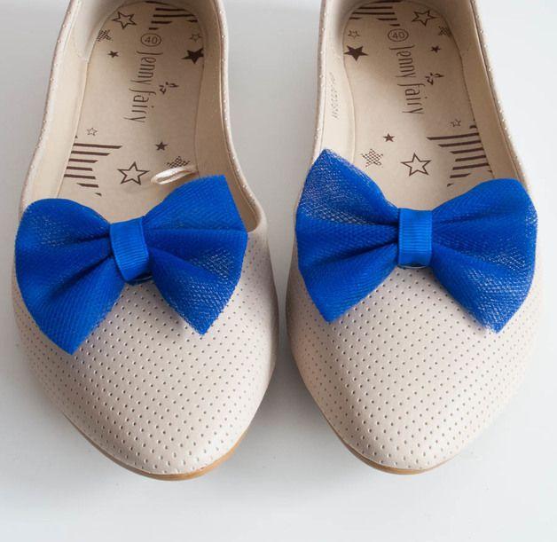 Klipsy do butów Kokardy Mint - MisiabelaSHOP - Klipsy do butów
