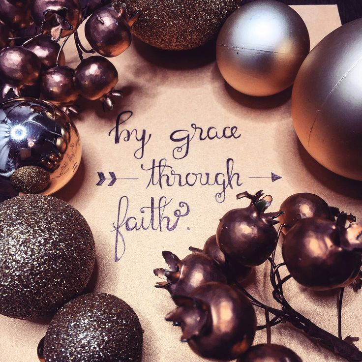 By grace Through faith | Handwritten calligraphy | Modern calligraphy