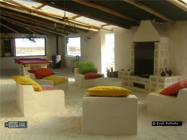 Palacio de Sal, a Bolivian hotel made entirely of salt (including a nine-hole salt golf course)