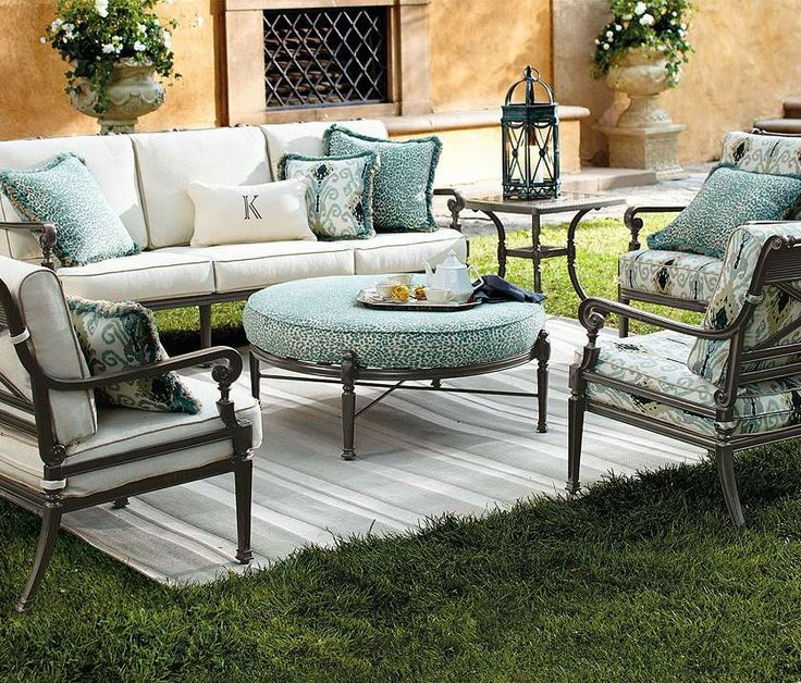 Our Carlisle Slate Seating Collection offers more compelling choices than ever. The impeccable, grandly scaled cast-aluminum frames are crafted to stand the test of time.: Lounges Chairs, Carlisl Slate, Frontgat Linens, Inspiration Frontgat, Metals Furniture, Carlisl Seats, Furniture Ideas, Slate Seats, Cast Aluminum Frames