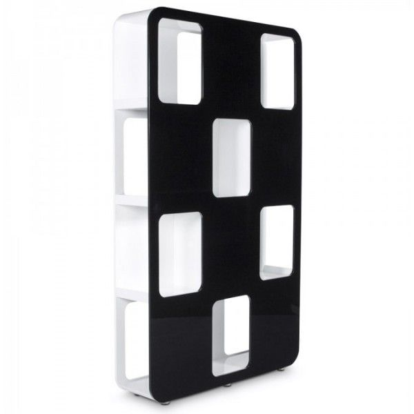 Design Kast Hoogglans wit en zwart - DesignOnline24.nl