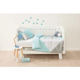 Reversible Cot Comforter Set - Blue Splice