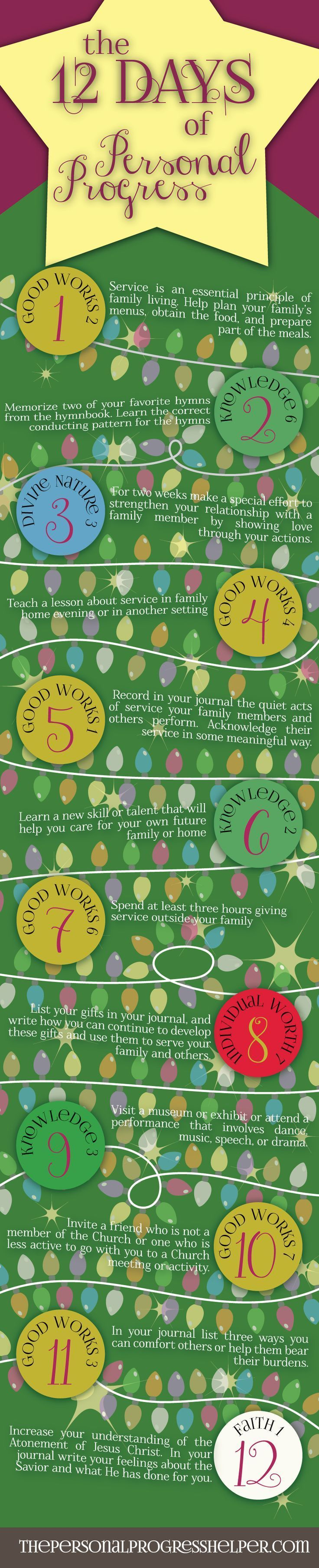 Rainbow Tea Program For Church Yahoo Answers - 12 days of personal progress infographic just in time for the holidays