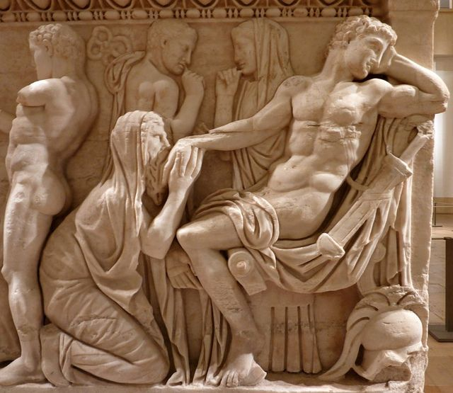 Priamo supplica Achille