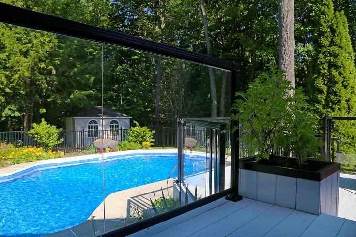 Beautiful Glass Panels Aluminum railing, Backyard views