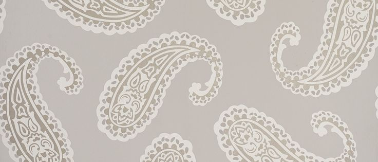 Emperor Paisley Dove Grey at Laura Ashley - fabric. Matches wallpaper.