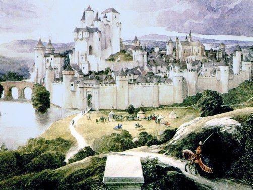 Representación de la mítica ciudad de Camelot