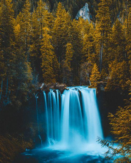 Koosah Falls, Oregon.by Nicholas Peter Wilson