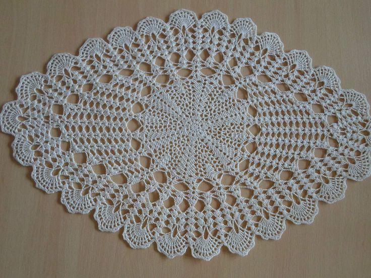 Handmade doilies (20 x13 inch) (51 x 32cm) by Ela Mazek