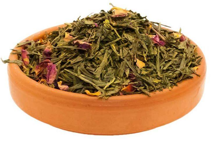 Loose Leaf Sencha Green Tea with Cherry and Rose | Maya Tea Company