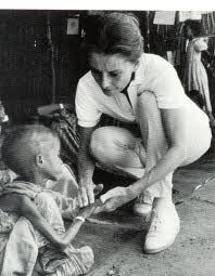 Audrey Hepburn with Unicef in Ethiopia: Ghandi once said, 'Wars cannot be won by bullets, but only with bleeding hearts.' And surely caring is better than killing. We care for our own children, when they go through a crisis. When they have an accident or are stricken by disease. Not only during that moment, but also through what may be a fairly long convalescence. If we can do that for our own children, I certainly think we can do it for all those silent children that I saw yesterday and…