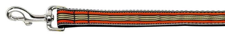 Preppy Stripes Nylon Ribbon Collars Orange/khaki 1 Wide 6ft Lsh