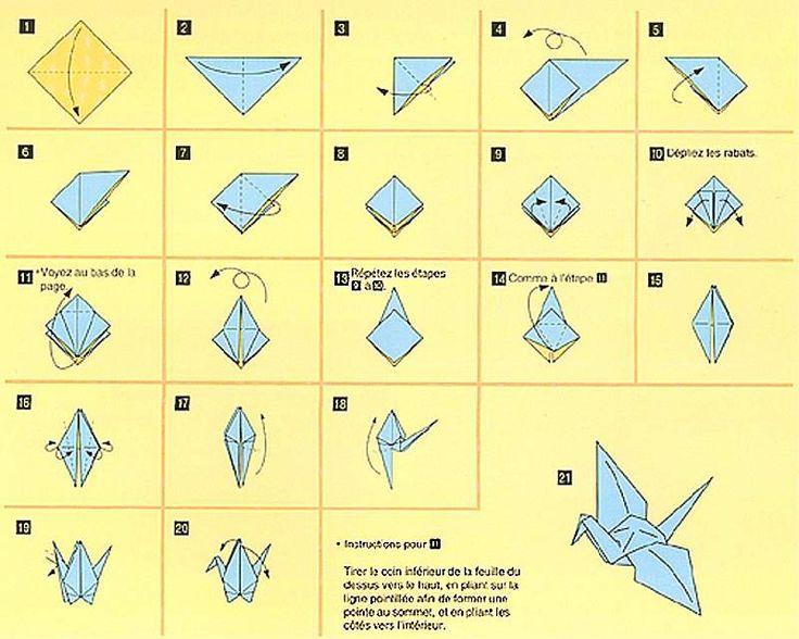 tutoriel origami cigogne