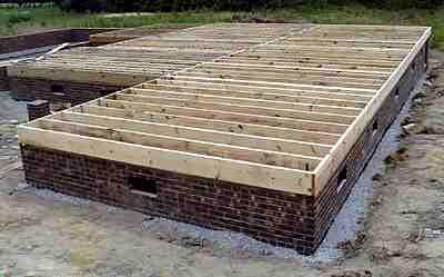 Pier and Beam Foundation Type. Continuous Wall Foundation Type