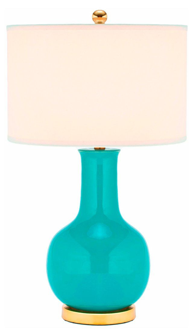 Evelyn Table Lamp, Turquoise