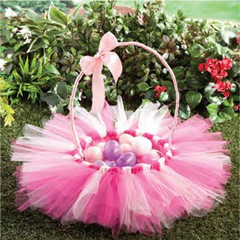 Tulle Easter Basket!.OMG I need this in my life :)
